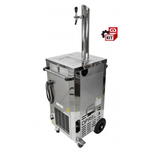 Kit Cooler carrellato da 1/2 HP con colonna  inox 1 via completo di rubinetto e accessori