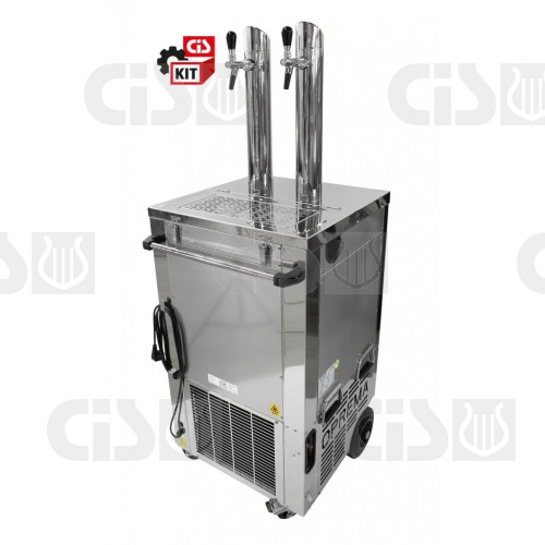 Mobile cooler KIT 1 with inox towers comlpete with accessories