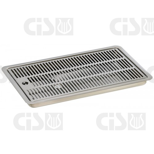 Drip tray for recess with discharge g1/2