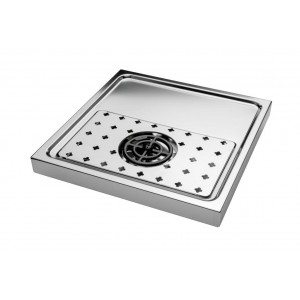 Drip tray plate with refresher and discharge g1/2