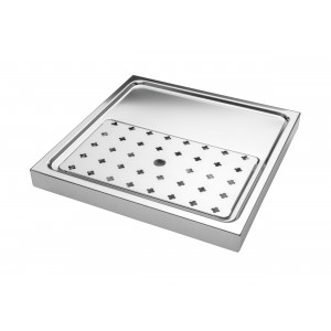 Drip tray plate with discharge g1/2