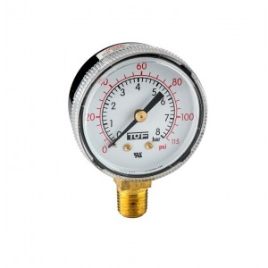 "UL manometer low pressure end scale 115 PSI -1/4""NPT"