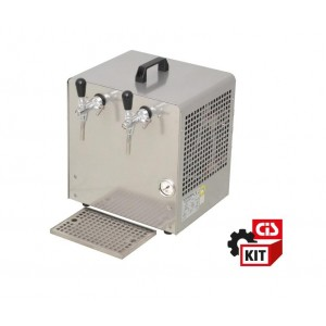 Cooler dispensing system with air pump overcounter  2 ways  4/5 HP with driptray and accessories