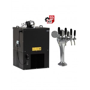 Cooler dispensing system undercounter complete with Giotto 4 ways font
