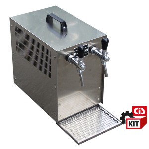Cooler dispensing system overcounter 1/3HP complete with 2 taps and accessories