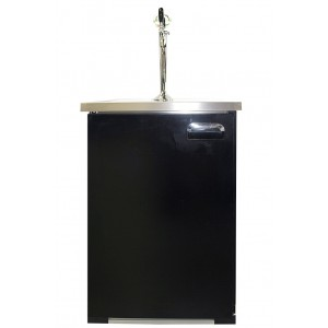 Bar counter for refrigerated kegs