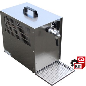 Cooler dispensing system overcounter 1/3HP complete with 1 tap and all accessories