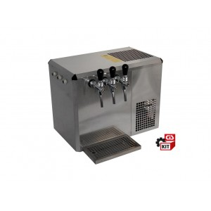 Cooler dispensing system overcounter 1/4 HP 3-way ice bank cooler complete with accessories.