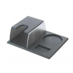 Tamping mat with filterholder stand