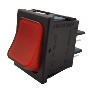 RED BIPOLAR SWITCH WITH LIGHT
