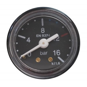 Gauge Ø40 0-16 bar - Connection G1/8