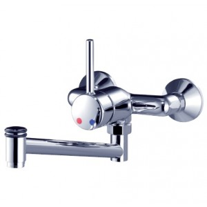 "wall mounting mixer 3/4"" single lever control rear-mounted"