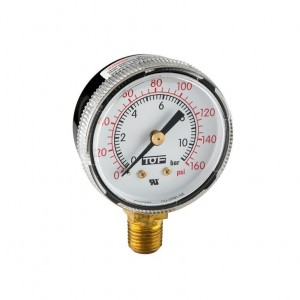 "UL manometer low pressure end scale 160 PSI -1/4""NPT"