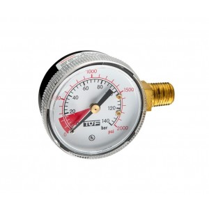"UL manometer high pressure end scale 2000 PSI -1/4""NPT"
