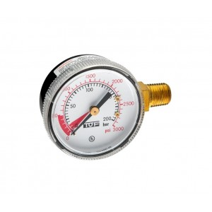 "UL manometer high pressure end scale 3000 PSI -1/4""NPT"