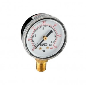 "UL manometer low pressure end scale 60 PSI -1/4""NPT"