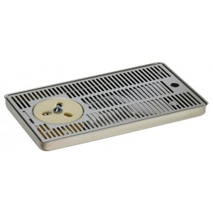 Drip tray with refresher and discharge g1/2